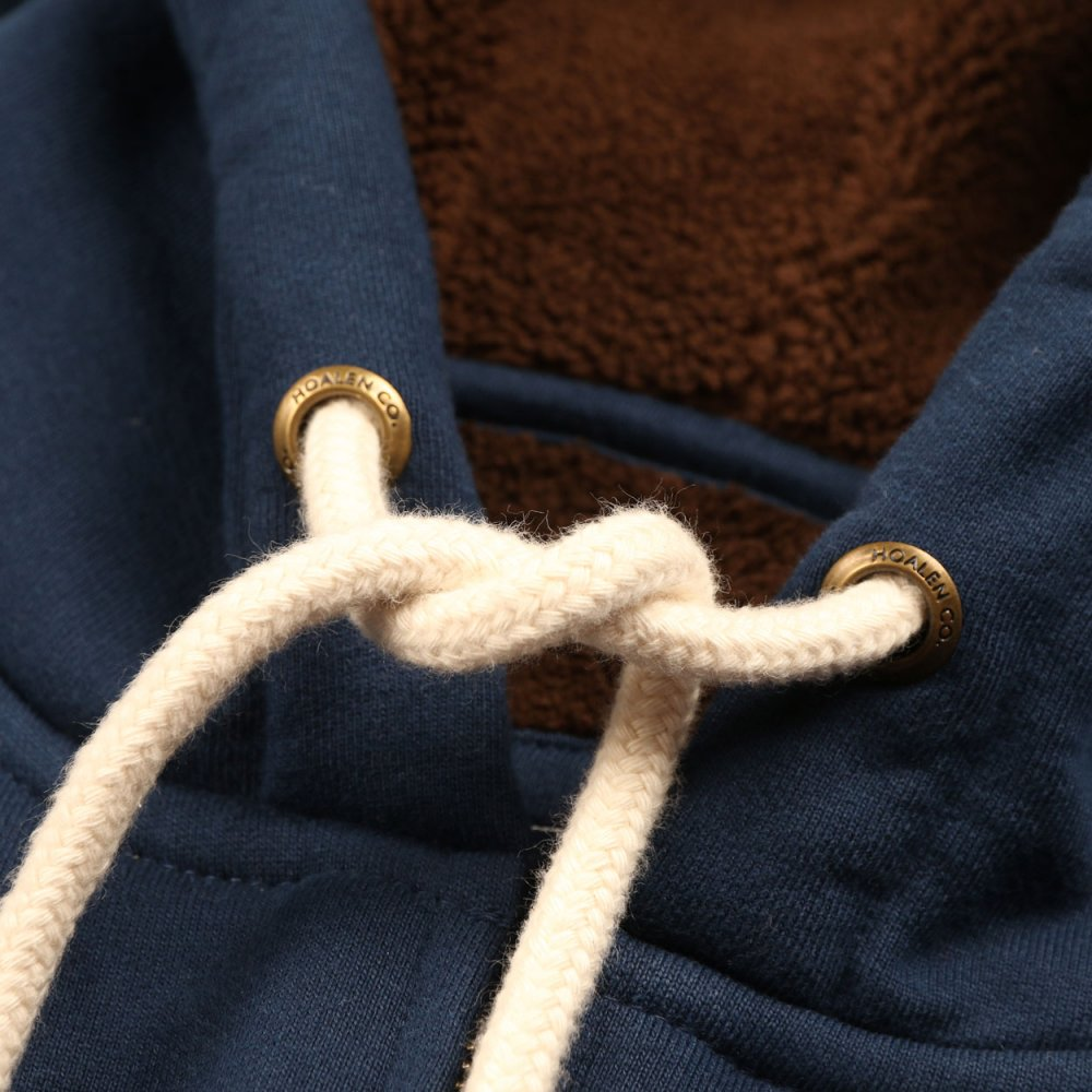 Fur lined cotton fleece