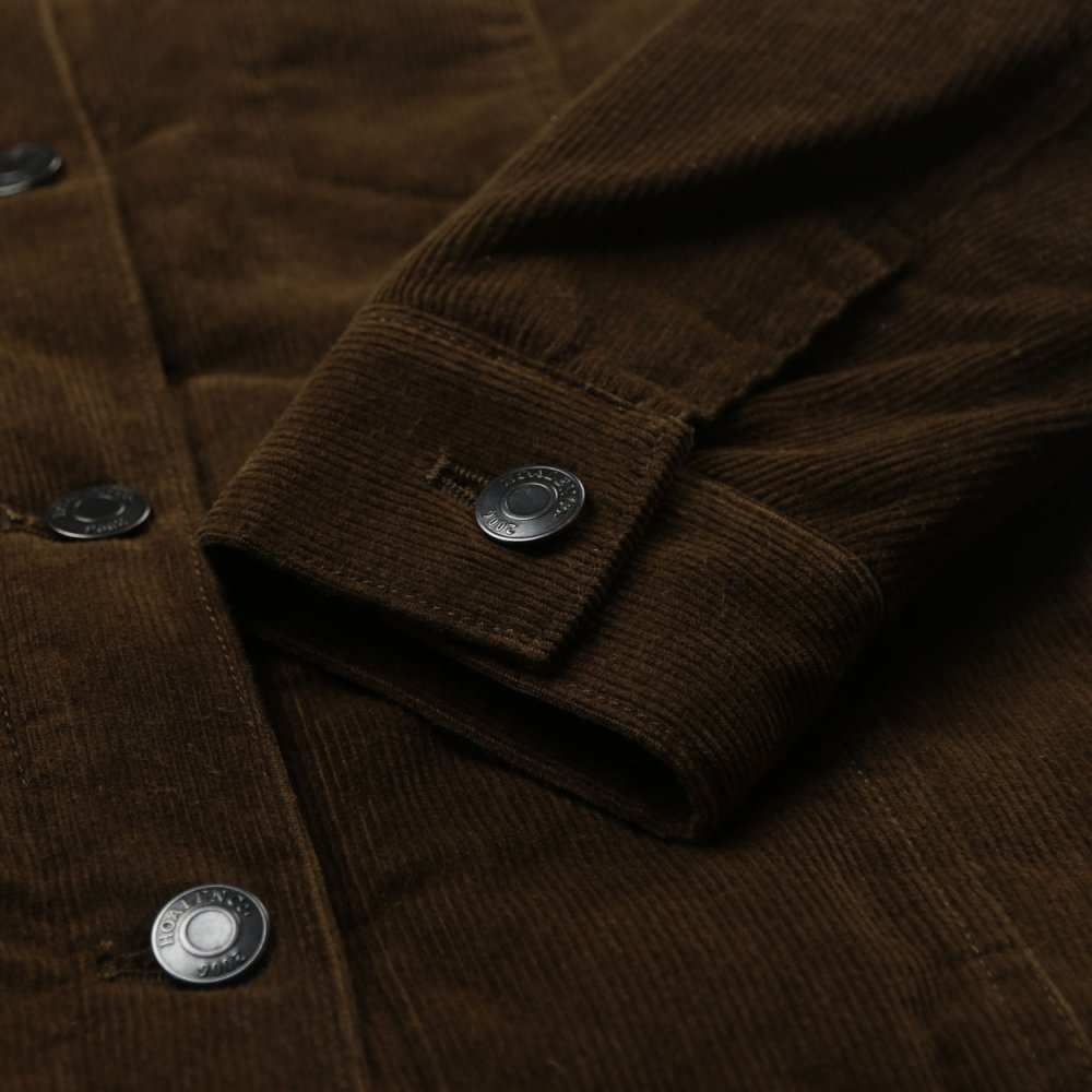 Fur lined corduroy