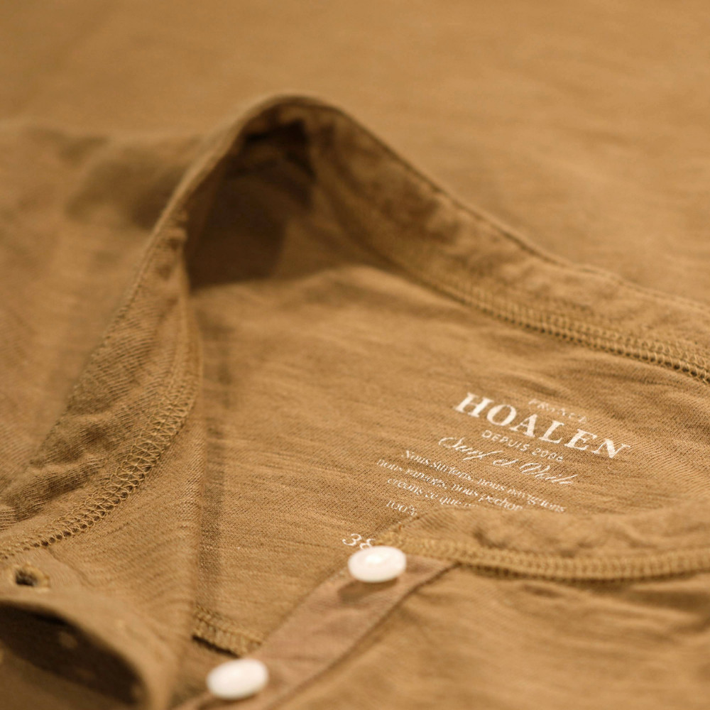Heavy buttoned tee