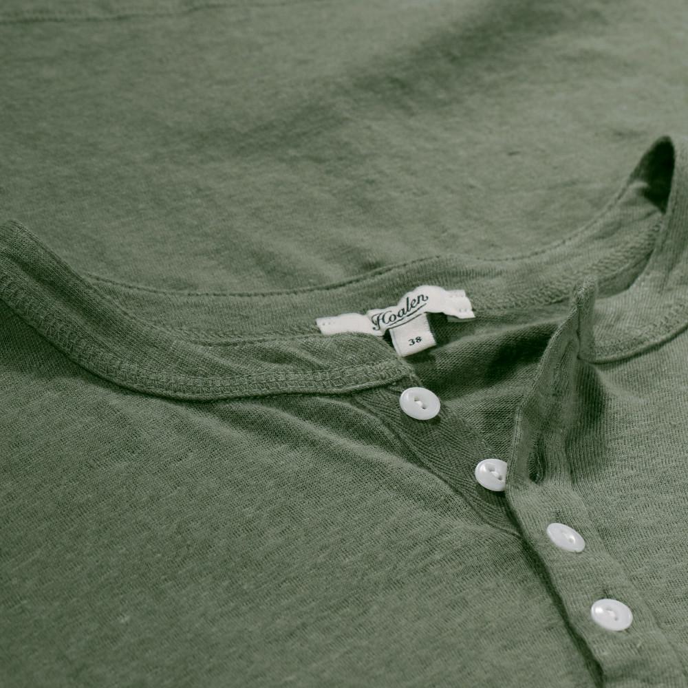 Linen buttoned tee