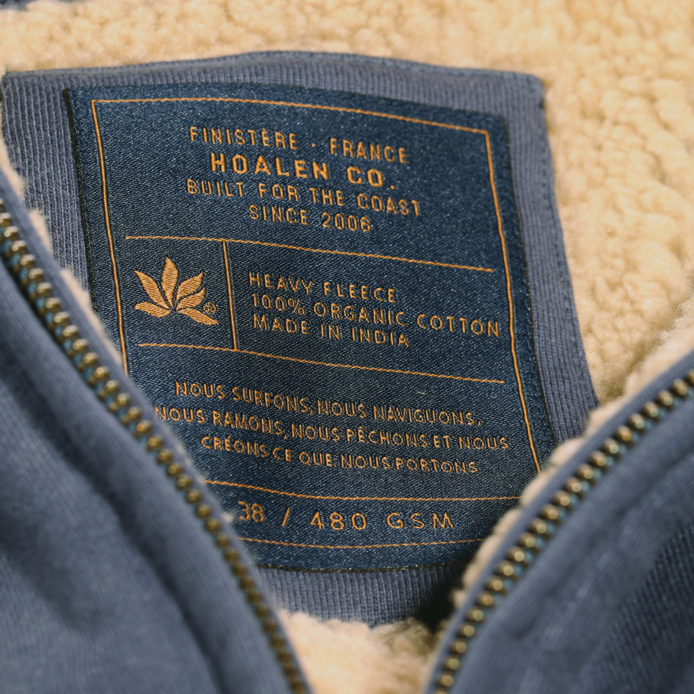 Fur lined cotton fleece